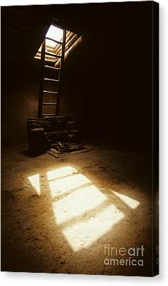 Of Light And Shadow Pecos Ruin Canvas Print by Bob Christopher