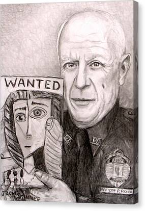 Officer Picasso Police Sketch Artist Canvas Print by Jack Skinner