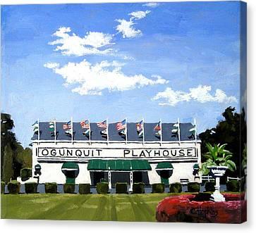 Ogunquit Playhouse Ogunquit Maine Canvas Print by Christine Hopkins