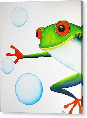 Oh Bubbles Canvas Print by Oiyee At Oystudio