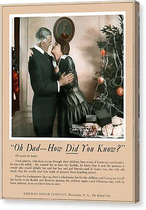 Oh Dad How Did You Know? 1917. Canvas Print by Unknown Photographer