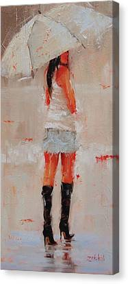 Oh Those Boots Canvas Print by Laura Lee Zanghetti