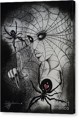 Oh What Tangled Webs We Weave Canvas Print by Carla Carson