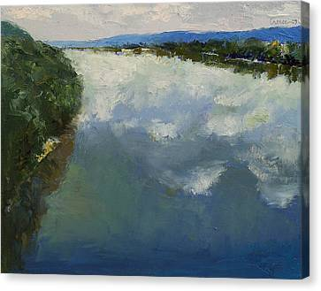 Ohio River Painting Canvas Print by Michael Creese