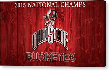 Ohio State Buckeyes National Champs Barn Door Canvas Print by Dan Sproul