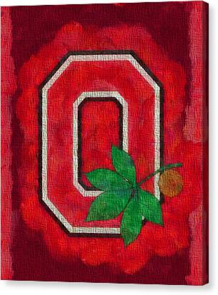 Ohio State Buckeyes On Canvas Canvas Print by Dan Sproul