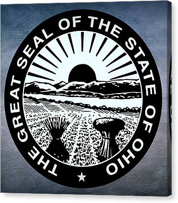 Ohio State Seal Canvas Print by Movie Poster Prints