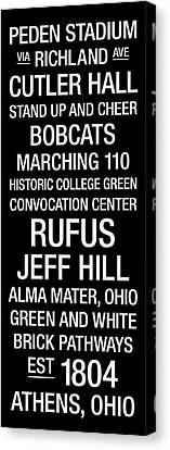 Ohio University College Town Wall Art Canvas Print by Replay Photos