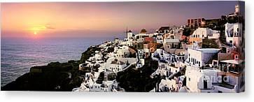 Oia - Santorini Canvas Print by Rod McLean