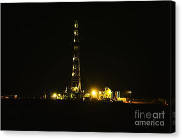 Oil Rig Canvas Print by Jeff Swan