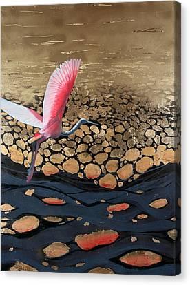 Oil Slick Canvas Print by Art Nomad Sandra  Hansen