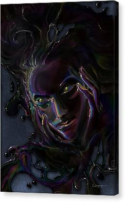 Oil Spill Canvas Print by Cassiopeia Art