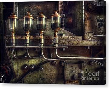 Oil Valves Canvas Print by Carlos Caetano