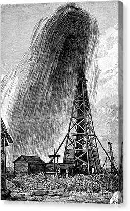 Oil Well, 19th Century Canvas Print by Spl