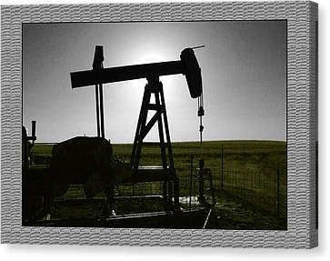 Oil Well Canvas Print by Thomas Bomstad