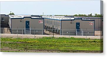 Oil Workers' Accommodation Canvas Print by Jim West