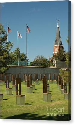 Oklahoma City National Memorial Canvas Print by Richard and Ellen Thane