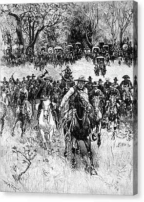 Oklahoma Land Rush, 1891 Canvas Print by Granger