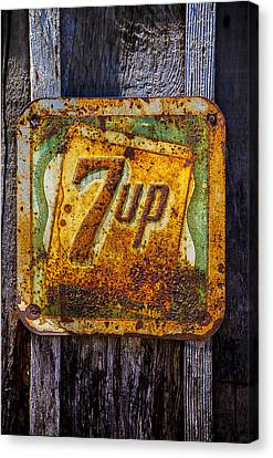 Old 7 Up Sign Canvas Print by Garry Gay