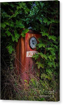 Old Abandoned Gasoline Pump Canvas Print by Edward Fielding