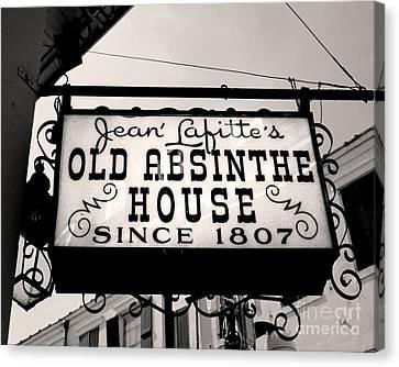 Old Absinthe House Canvas Print by Jillian Audrey Photography
