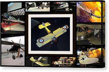 Old Aeroplans . Canvas Print by Joyce Woodhouse