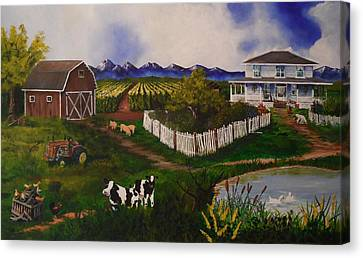 Old And Tired Canvas Print by Tim Loughner