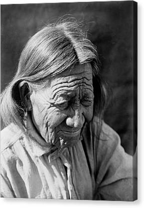 Old Arapaho Man Circa 1910 Canvas Print by Aged Pixel