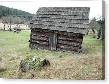 Old Barn Canvas Print by Graham Foulkes