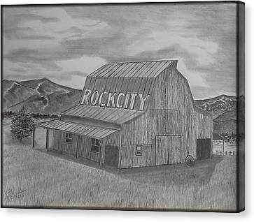 Old Barn II Canvas Print by Tony Clark