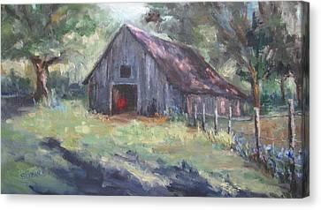 Old Barn In Arkansas Canvas Print by Sharon Franke