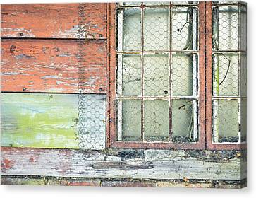 Old Barn Window Canvas Print by Tom Gowanlock