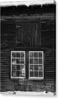 Old Barn Windows Canvas Print by Edward Fielding
