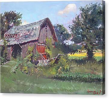 Old Barns  Canvas Print by Ylli Haruni