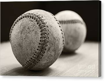 Old Baseballs Canvas Print by Edward Fielding