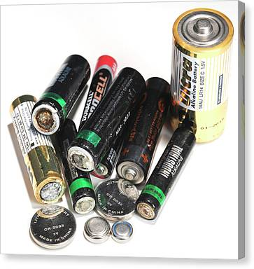 Old Batteries Canvas Print by Public Health England