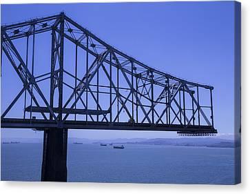 Old Bay Bridge Canvas Print by Garry Gay