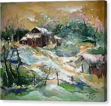 Old Bethpage Village Restoration Canvas Print by Mary Spyridon Thompson