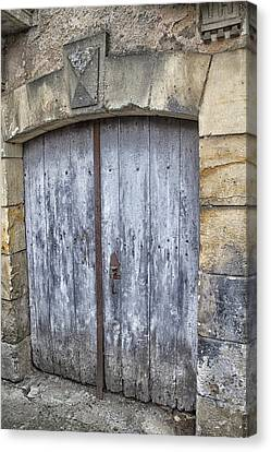 Old Blue Door In South-west France Canvas Print by Georgia Fowler