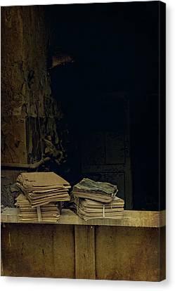 Old Books Canvas Print by Jaroslaw Blaminsky