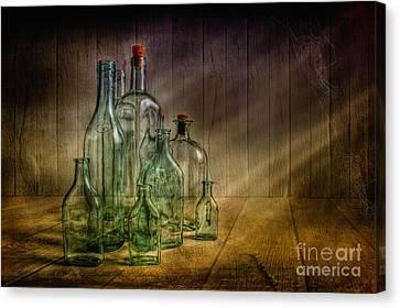 Old Bottles Canvas Print by Veikko Suikkanen