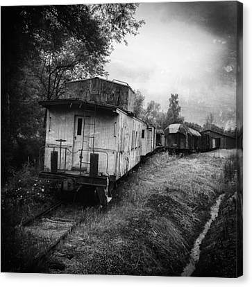 Old Caboose Canvas Print by Jeff Klingler