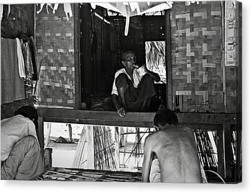 Old Burmese Smoker Woman Canvas Print by RicardMN Photography
