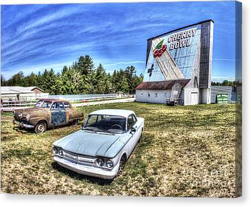 Old Cars At The Drive-in Canvas Print by Twenty Two North Photography