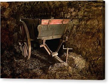 Old Cart Canvas Print by Liz  Alderdice