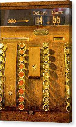 Old Cash Register Decor At The Historic Canvas Print by Chuck Haney