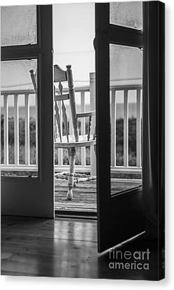Old Chair At The Beach House Canvas Print by Diane Diederich