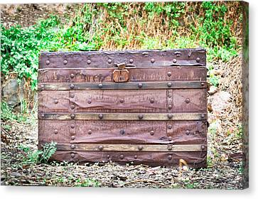 Old Chest Canvas Print by Tom Gowanlock