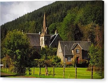 Old Church. Scotland Canvas Print by Jenny Rainbow