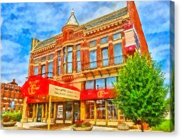 Old City Prime Restaurant Lima Ohio Canvas Print by Dan Sproul